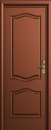 Classic solid wood door with rounded engravings that can be used as both an interior door and a door that cuts between two separate areas with opposite functionality in Ashdod and surrounding areas